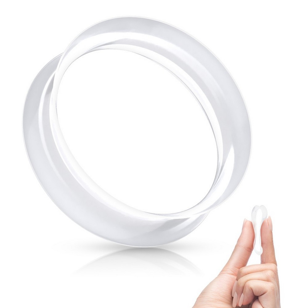 Plug tunnel selle évasée double flexibles en silicone noir