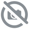 Bague La conception du Croissant-Rouge CZs multi-Bande IP Gold titane solide